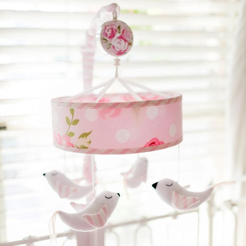 Crib Mobile | Rosebud Lane Floral Crib Baby Bedding Set-Crib Mobiles-Jack and Jill Boutique