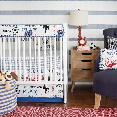 Crib Rail Cover | All Star Vintage Sports-Crib Rail Cover-Jack and Jill Boutique