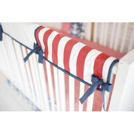 Crib Rail Cover | Anchors Away in Navy Nautical-Crib Rail Cover-Jack and Jill Boutique