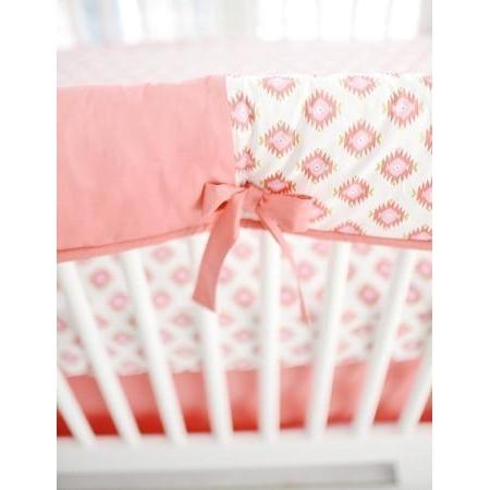 Crib Rail Cover | Aztec Baby in Pink & Gold-Crib Rail Cover-Jack and Jill Boutique