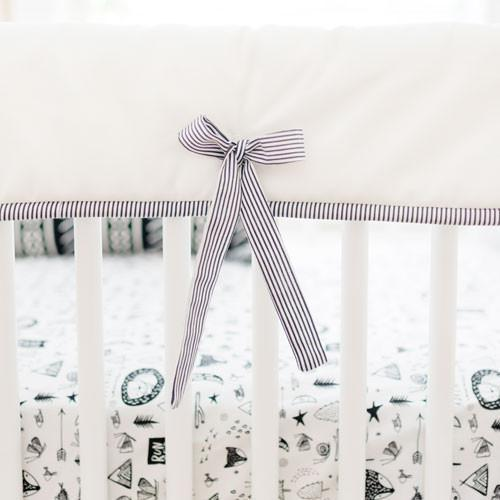 Crib Rail Cover | Black and White Adventure Awaits-Crib Rail Cover-Jack and Jill Boutique