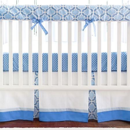 Crib Rail Cover | Blue and White Carousel-Crib Rail Cover-New Arrivals-Jack and Jill Boutique