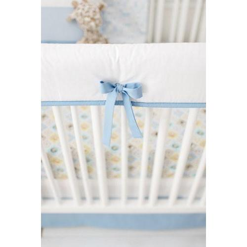 Crib Rail Cover | Born Wild in Blue-Crib Rail Cover-Jack and Jill Boutique