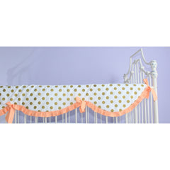 Crib Rail Cover | Coral Sunset and Papaya-Crib Rail Cover-Bold Bedding-Jack and Jill Boutique