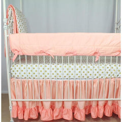 Crib Rail Cover-Jack and Jill Boutique-Crib Rail Cover | Coral Sunset