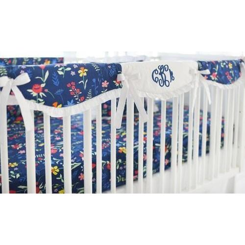 Crib Rail Cover | Floral Poppyfield-Crib Rail Cover-Jack and Jill Boutique