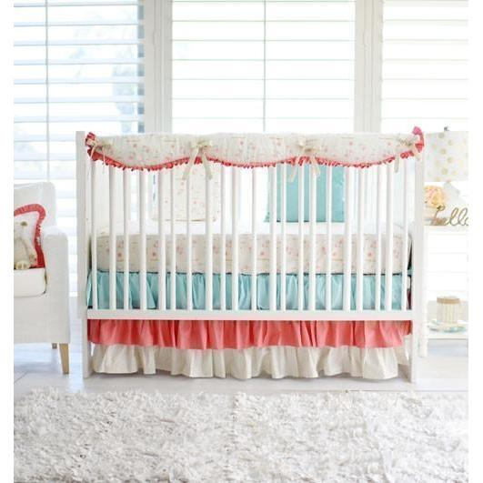 Crib Rail Cover | Floral Rosemilk-Crib Rail Cover-Jack and Jill Boutique