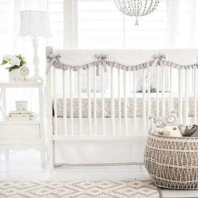 Crib Rail Cover | Gray Bunny Love-Crib Rail Cover-Jack and Jill Boutique