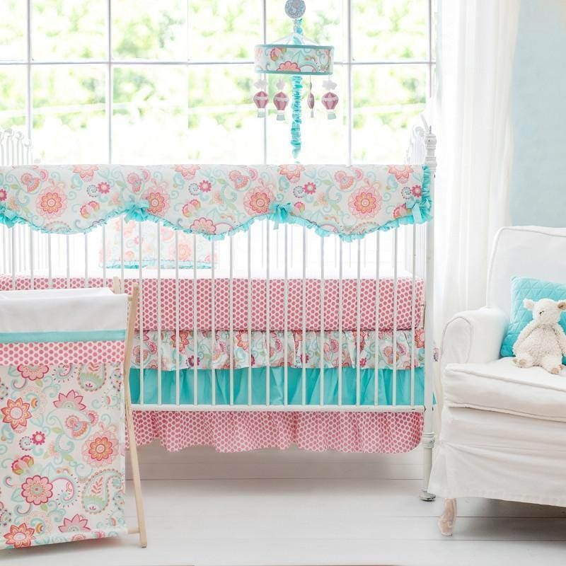 Crib Rail Cover | Gypsy Baby Paisley Crib Baby Bedding Set-Crib Rail Cover-Default-Jack and Jill Boutique