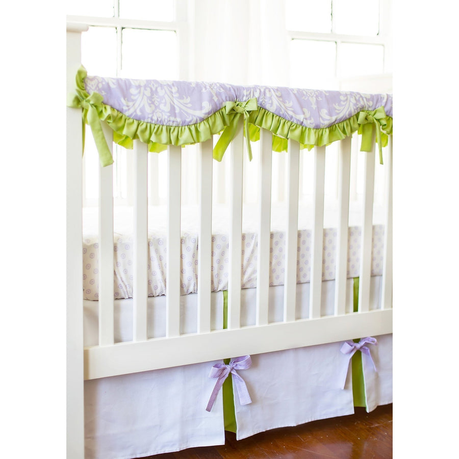 Crib Rail Cover | Lavender Damask Sweet Violet