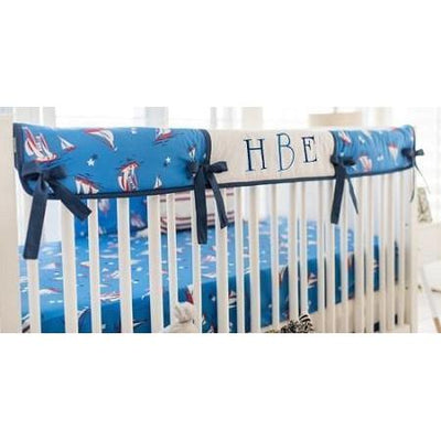 Crib Rail Cover | Nautical Harbor-Crib Rail Cover-Jack and Jill Boutique