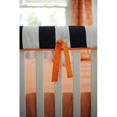Crib Rail Cover | Orange & Navy Arrow Out & About-Crib Rail Cover-Jack and Jill Boutique