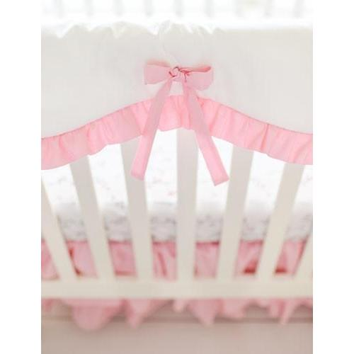 Crib Rail Cover | Pink Bumperless