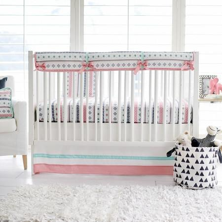 Crib Rail Cover | Pink Cheyenne