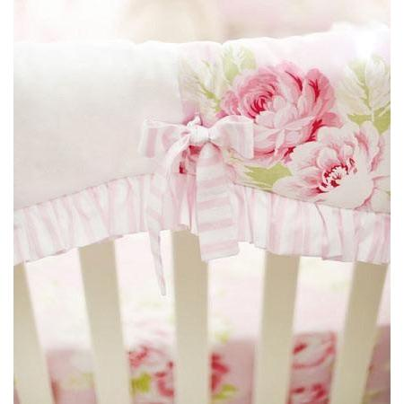 Crib Rail Cover with Monogram | Pink Floral Pink Desert Rose-Crib Rail Cover-Jack and Jill Boutique