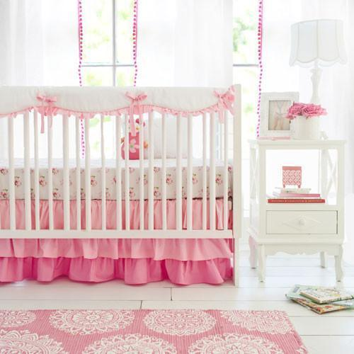 Crib Rail Cover | Pink Ombre-Crib Rail Cover-Jack and Jill Boutique