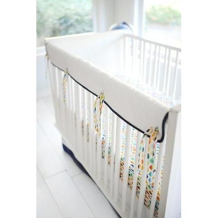 Crib Rail Cover | Rhapsody in Blue-Crib Rail Cover-Jack and Jill Boutique