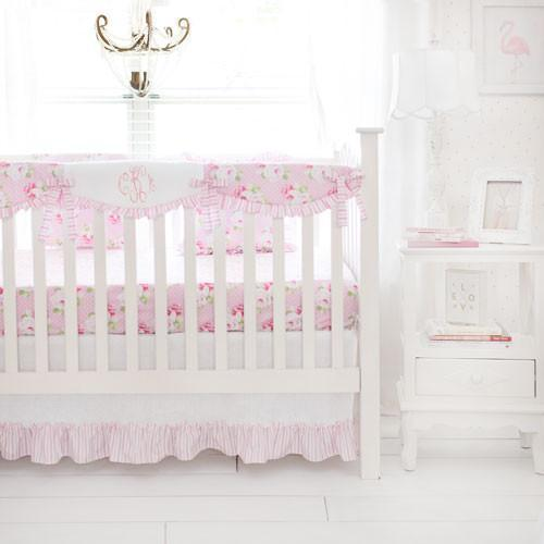 Crib Rail Cover | Sadie's Dance in Pink Bumperless-Crib Rail Cover-Jack and Jill Boutique
