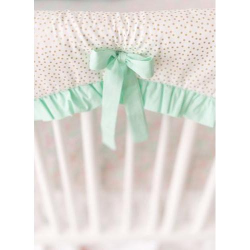 Crib Rail Cover | Unicorn Magic Folk in Aqua-Crib Rail Cover-Jack and Jill Boutique