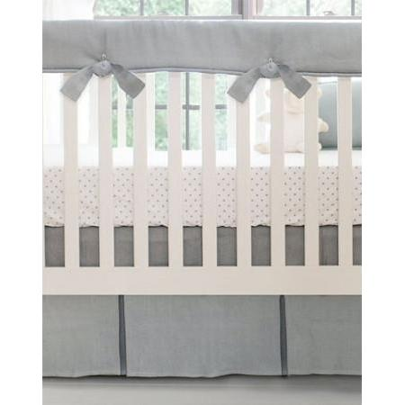 Crib Rail Cover | Washed Linen in Gray