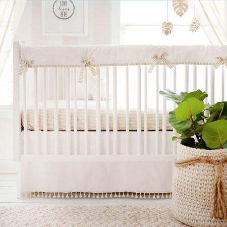 Crib Rail Cover | White Gold Dust