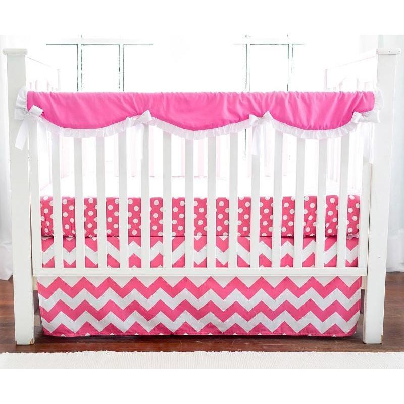 Crib Rail Cover | Zig Zag Baby in Hot Pink
