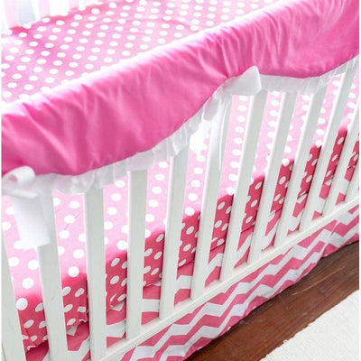 Crib Rail Cover | Zig Zag Baby in Hot Pink-Crib Rail Cover-Jack and Jill Boutique