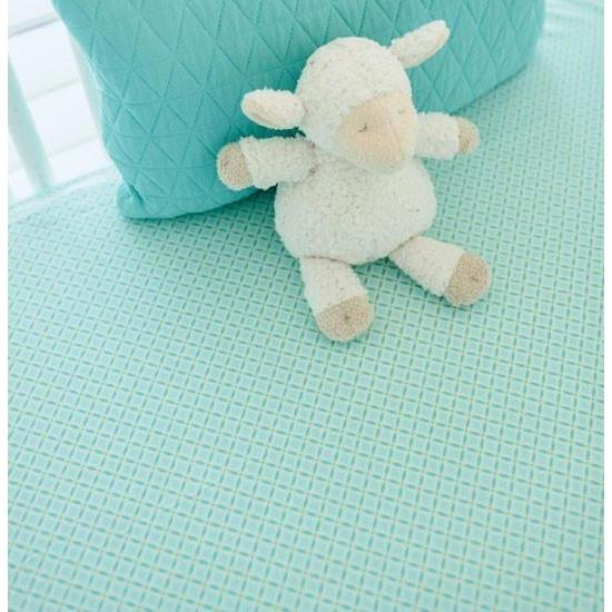 Crib Sheet | Aqua Ombre Crib Baby Bedding Set-Crib Sheets-Default-Jack and Jill Boutique