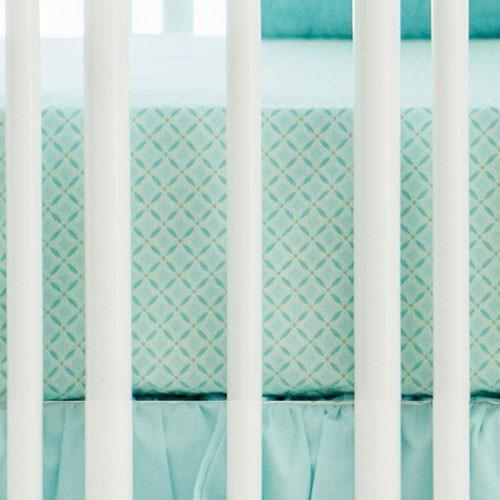 Crib Sheet | Aqua Ombre Crib Baby Bedding Set-Crib Sheets-New Arrivals-Jack and Jill Boutique