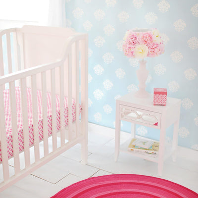 Crib Sheet | Aqua & Pink Floral Layla Rose Crib Baby Bedding Set-Crib Sheets-Default-Jack and Jill Boutique