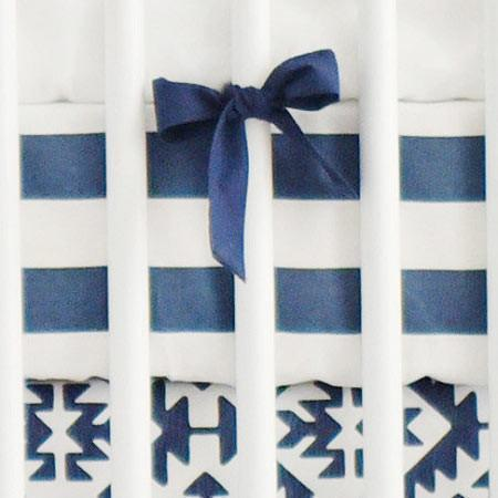 Crib Sheet | Arizona in Navy Crib Baby Bedding Set-Crib Sheets-Default-Jack and Jill Boutique