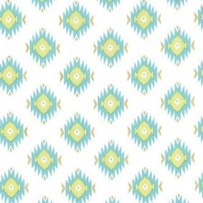 Crib Sheet | Aztec Baby in Aqua Crib Baby Bedding Set-Crib Sheets-Default-Jack and Jill Boutique