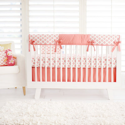 Crib Sheet | Aztec Baby in Coral Crib Baby Bedding Set-Crib Sheets-Default-Jack and Jill Boutique