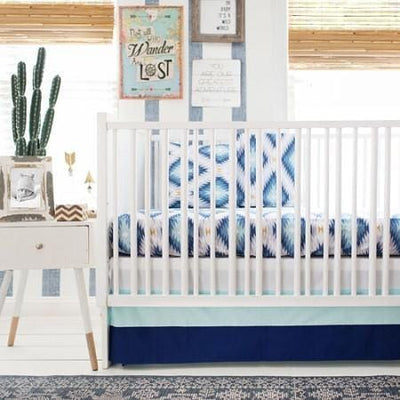 Crib Sheet | Aztec Wander in Blue Crib Baby Bedding Set-Crib Sheets-Default-Jack and Jill Boutique