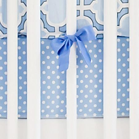 Crib Sheet | Blue and White Carousel Crib Baby Bedding Set-Crib Sheets-New Arrivals-Jack and Jill Boutique