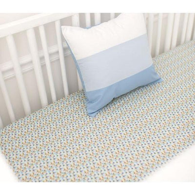 Crib Sheet - Blue Mosaic | Born Wild in Blue-Crib Sheets-Default-Jack and Jill Boutique