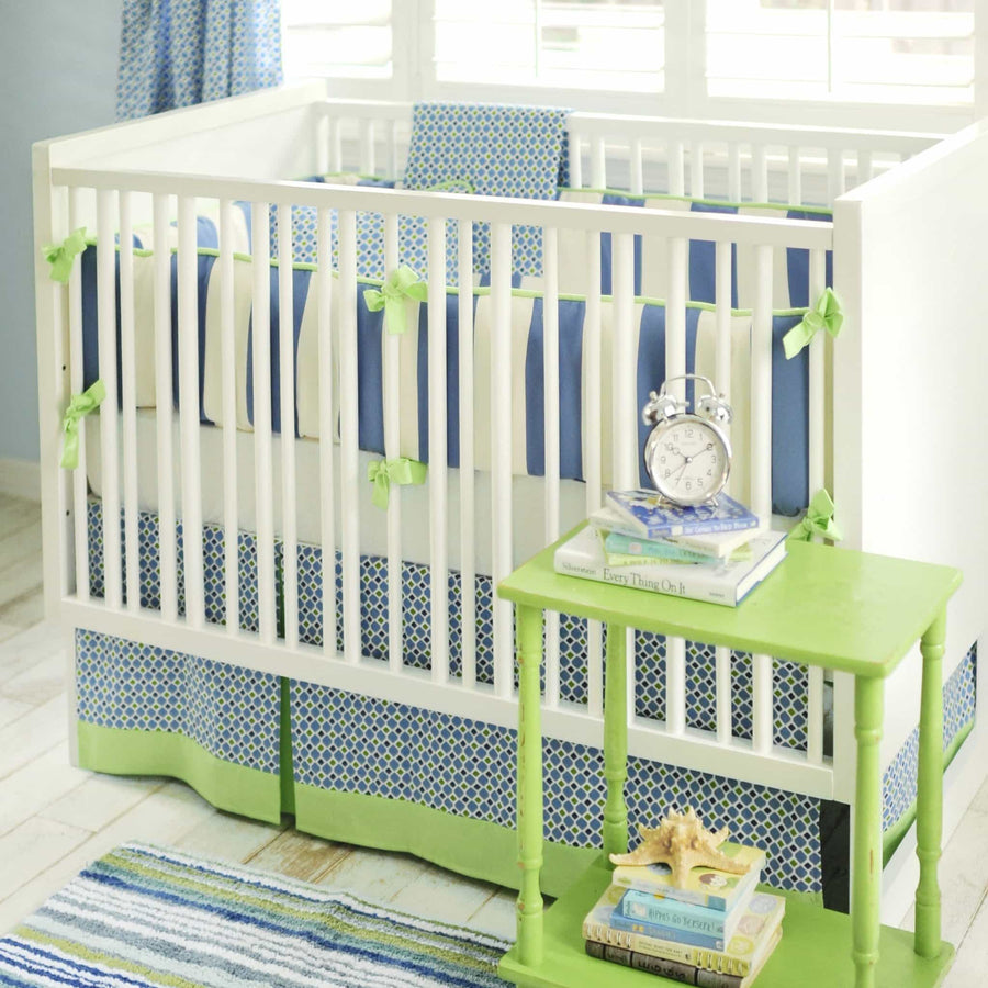 Crib Sheet | Boardwalk Blue and Green Crib Baby Bedding Set