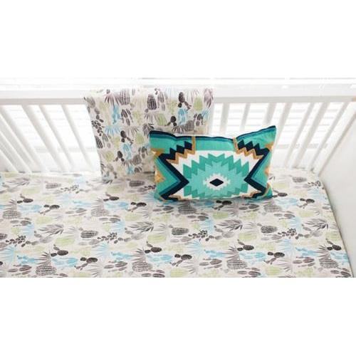 Crib Sheet | Cactus Desert Dawn in Earth Baby Bedding Set-Crib Sheets-Default-Jack and Jill Boutique