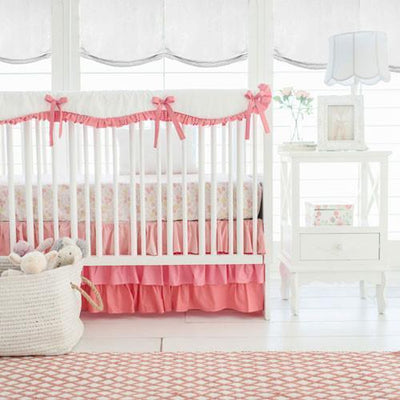 Crib Sheet | Coral Ombre Crib Baby Bedding Set-Crib Sheets-Default-Jack and Jill Boutique