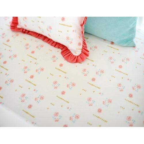 Crib Sheet | Floral Rosemilk Crib Baby Bedding Set-Crib Sheets-Default-Jack and Jill Boutique