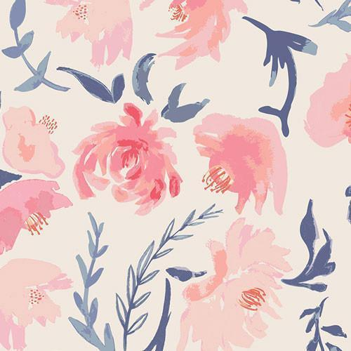 Crib Sheet | Floral Rosewater in Peach-Crib Sheets-Default-Jack and Jill Boutique