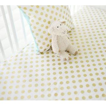 Crib Sheet | Gold Polka Dot in Pink Crib Baby Bedding Set-Crib Sheets-Default-Jack and Jill Boutique