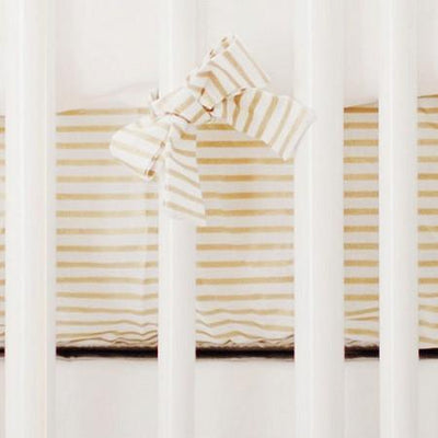 Crib Sheet - Gold Stripe | You Are Magic in Pink-Crib Sheets-Default-Jack and Jill Boutique