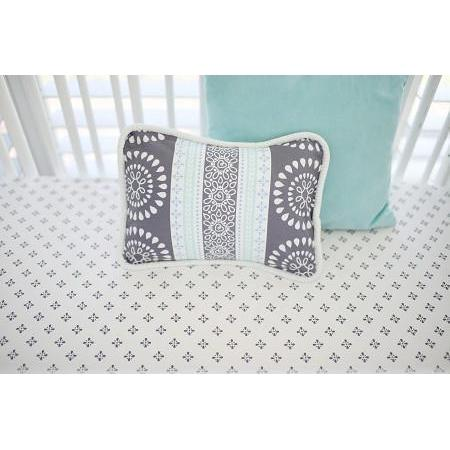 Crib Sheet | Gray & Aqua Harper in Aqua Crib Baby Bedding Set-Crib Sheets-Default-Jack and Jill Boutique