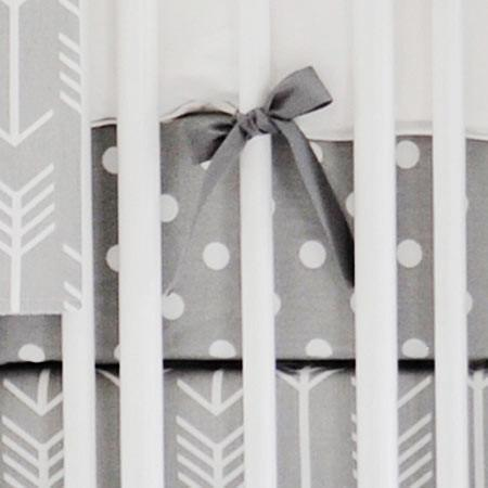 Crib Sheet | Gray Arrow Wanderlust in Gray Crib Baby Bedding Set-Crib Sheets-Default-Jack and Jill Boutique