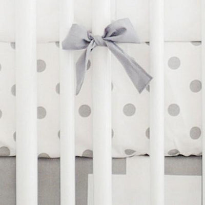 Crib Sheet | Gray Swiss Cross Crib Baby Bedding Set-Crib Sheets-Default-Jack and Jill Boutique