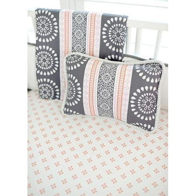 Crib Sheet | Harper in Coral Crib Baby Bedding Set-Crib Sheets-Default-Jack and Jill Boutique