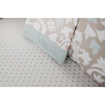Crib Sheet | Khaki & Aqua Suzani Picket Fence Crib Baby Bedding Set-Crib Sheets-Default-Jack and Jill Boutique