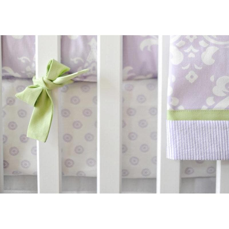 Crib Sheet | Lavender Damask Sweet Violet Crib Baby Bedding Set-Crib Sheets-Default-Jack and Jill Boutique