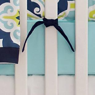 Crib Sheet | Lime Green & Navy Starburst in Kiwi Crib Baby Bedding Set-Crib Sheets-Default-Jack and Jill Boutique